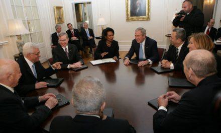 خطاب جورج بوش حول سياسته في الشرق الأوسط وحل الدولتين 24/6/2002