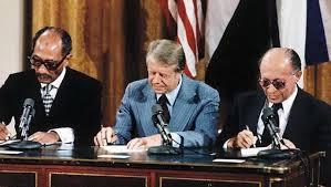 """معاهدة السلام بين مصر وإسرائيل """"معاهدة كامب ديفيد""""1978/9/17"""
